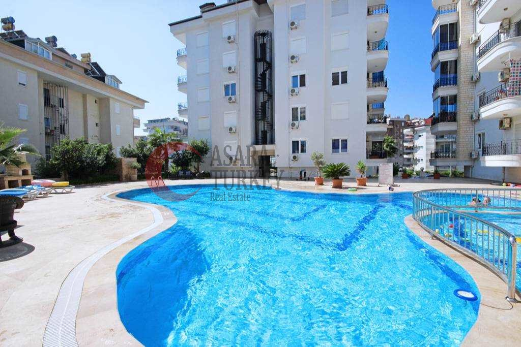 Furnished four-room duplex apartment with living area 150 m2 in Alanya - Cikcilli