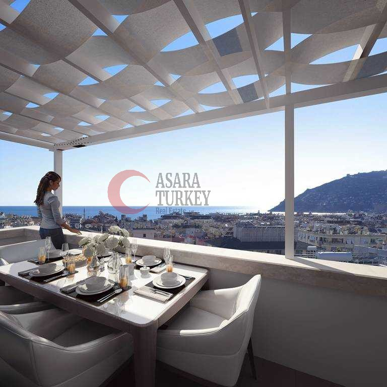 Modern apartments for sale in Turkey, the center of Alanya - new project