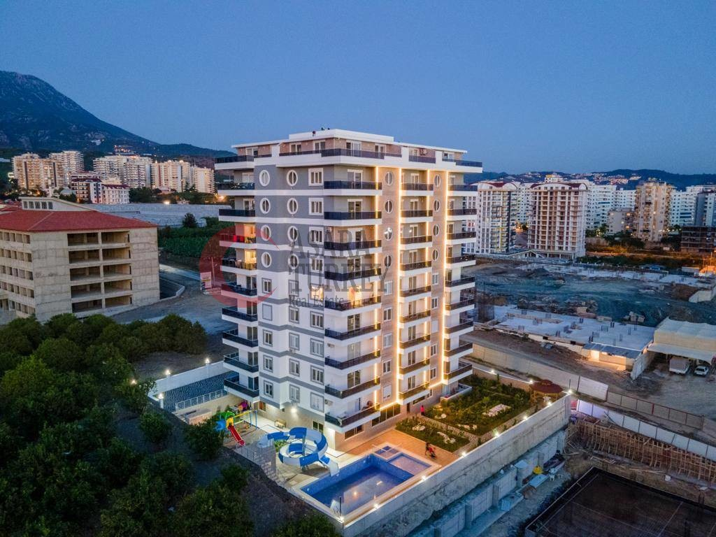 Furnished 6-room apartment with a breathtaking sea view in Alanya - Mahmutlar