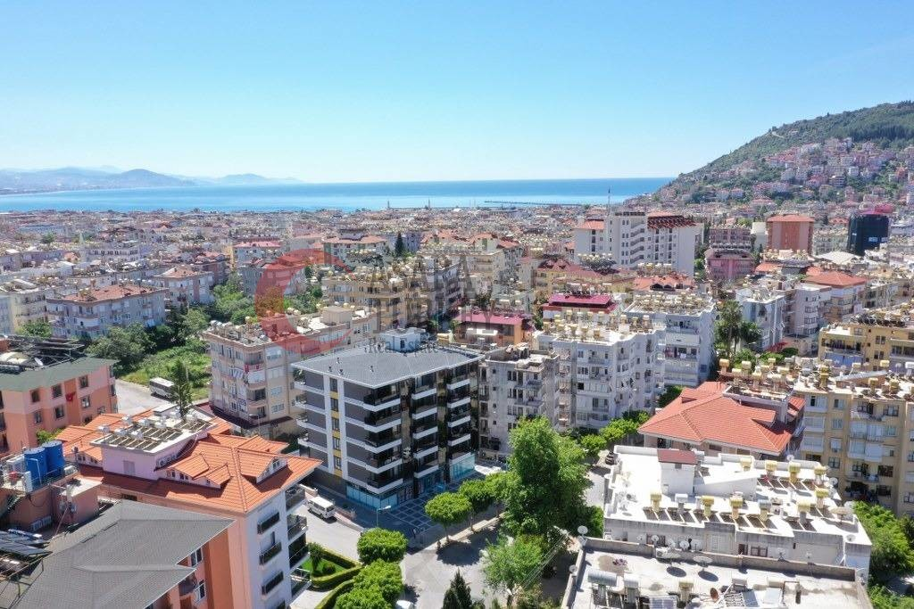 Furnished apartment in a new building in the city centre of Alanya